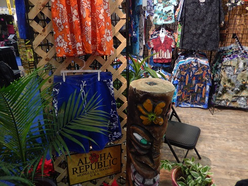 Aloha Republic had one of the best trade show booths at the Grand Strand Gift and Resort Merchandise Show in Myrtle Beach, South Carolina